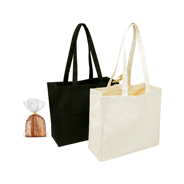 Custom plain canvas student carry tote bag travel shopping beach bag with handle
