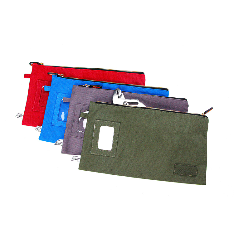 Wholesale custom zipper cotton canvas tool bag storage bag