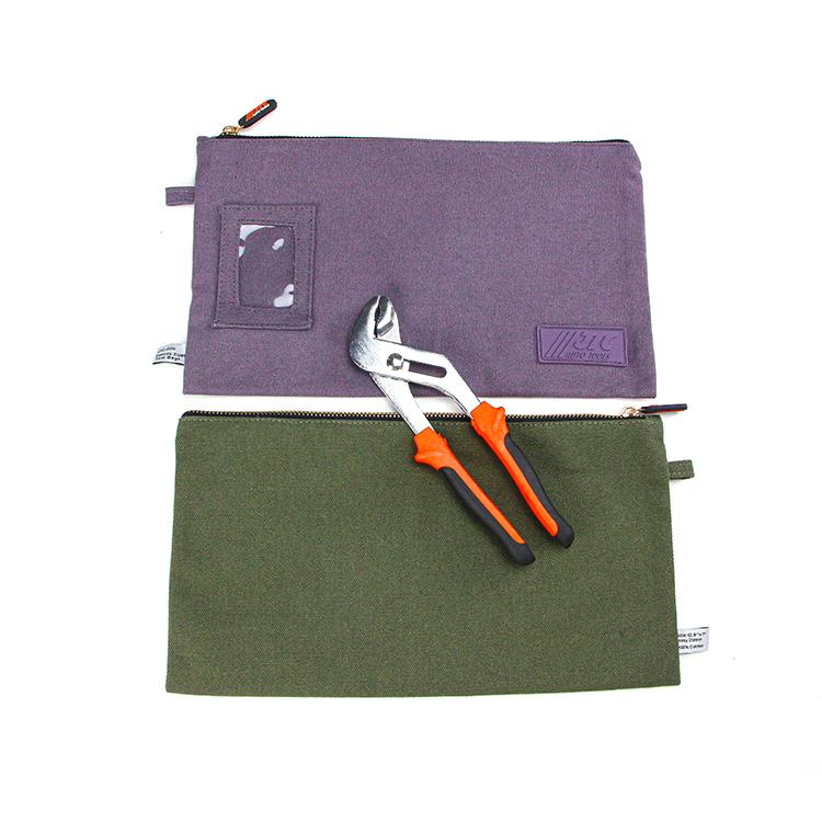 Wholesale custom zipper cotton canvas tool bag storage bag
