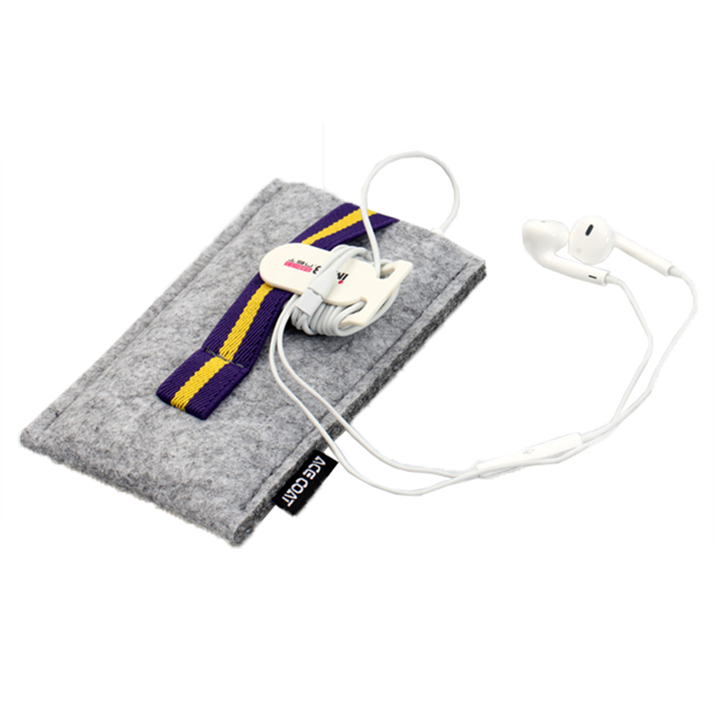 Custom Ear Phone Felt Sleeve Bag for ipad