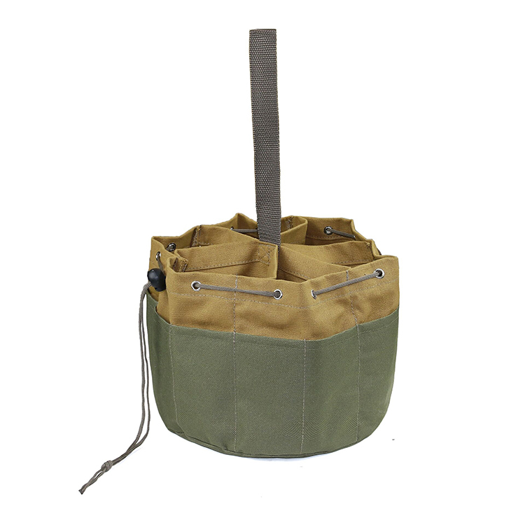Wholesale custom canvas tool bag with pockets