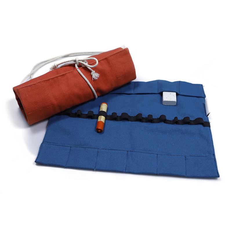 Canvas pencil roll up bag