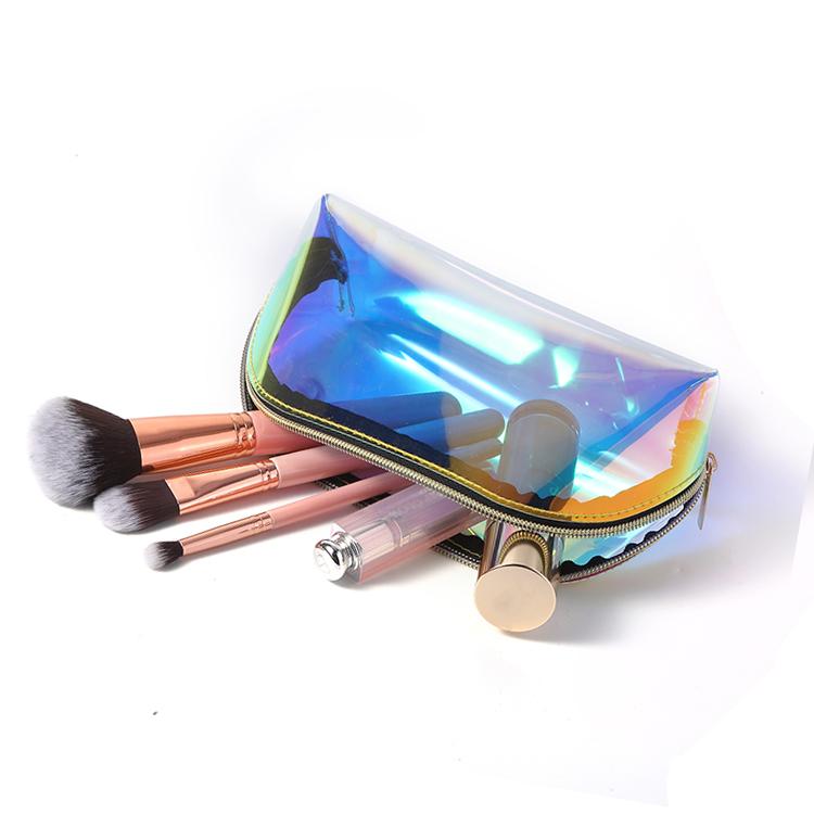 Clear TPU makeup bag zipper