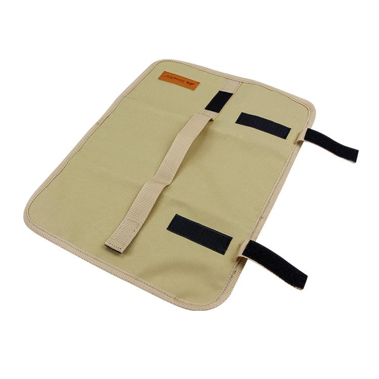 Custom travel camping knife roll bag table organizer bag