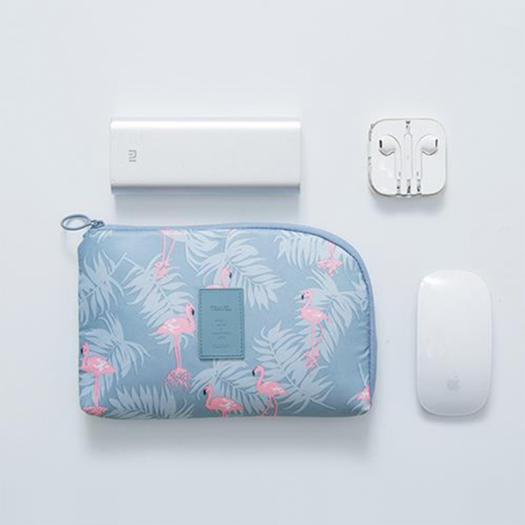 Nylon cable organizer bag packing electronic accessories USB cable phone zipper bag