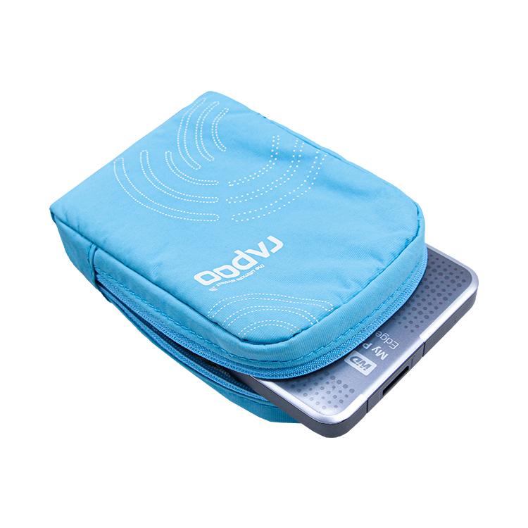 Nylon digital accessories zipper bag