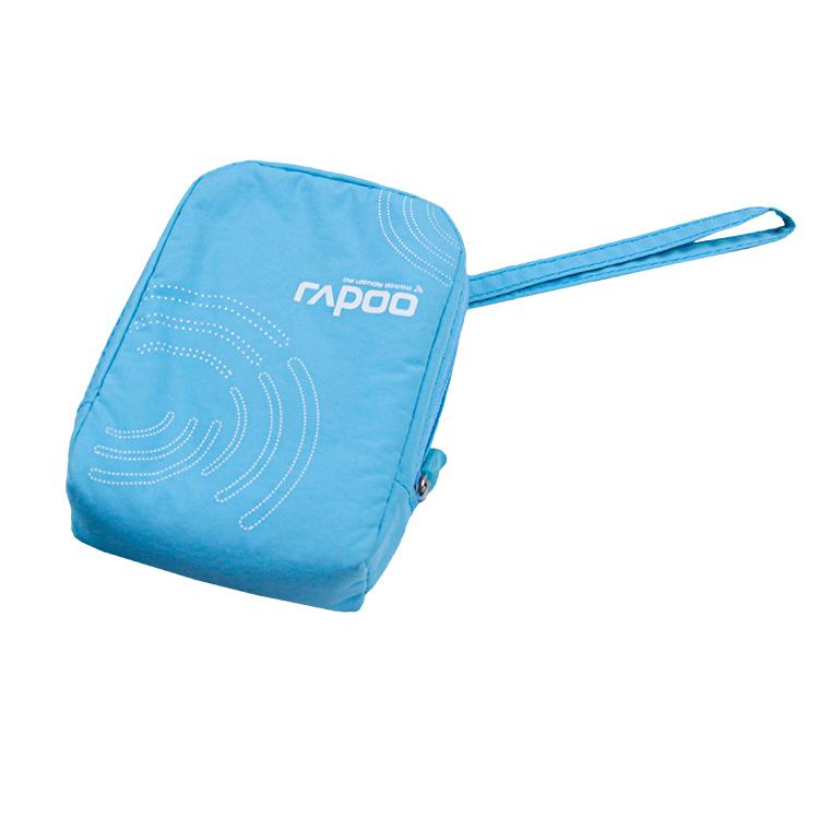Custom blue nylon digital accessories storage bag with handle