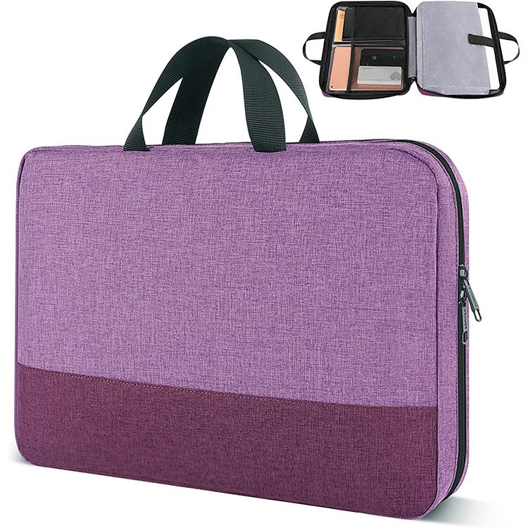 Custom women computer bag zipper nylon laptop bag with handle