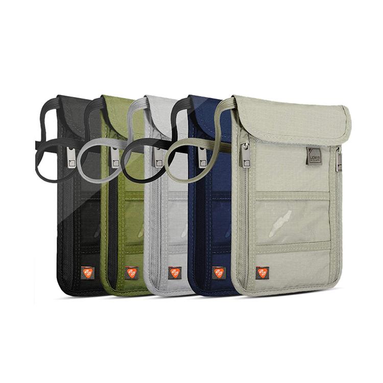 Custom small nylon passport bag wallet pouch