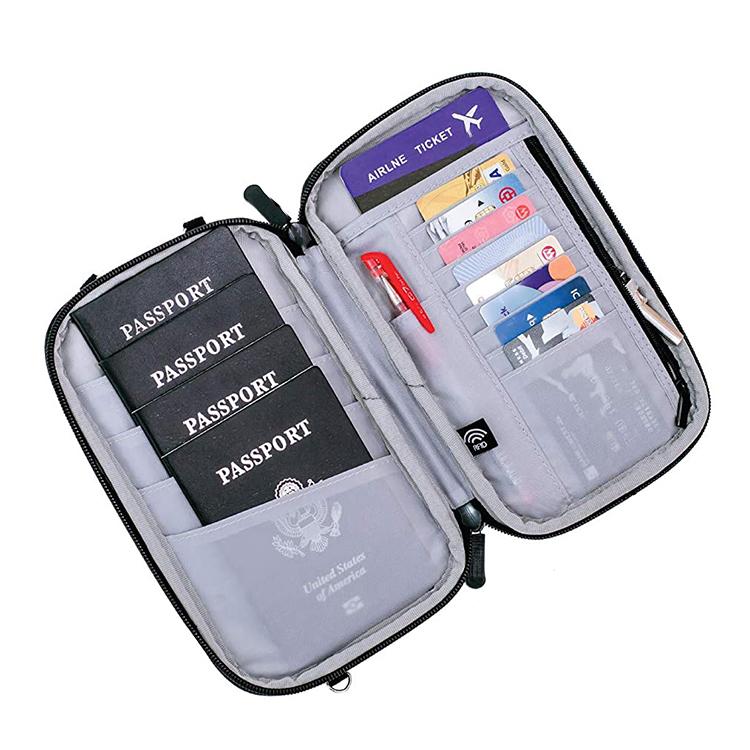 Custom travel cash passport zipper bag holding cash bag