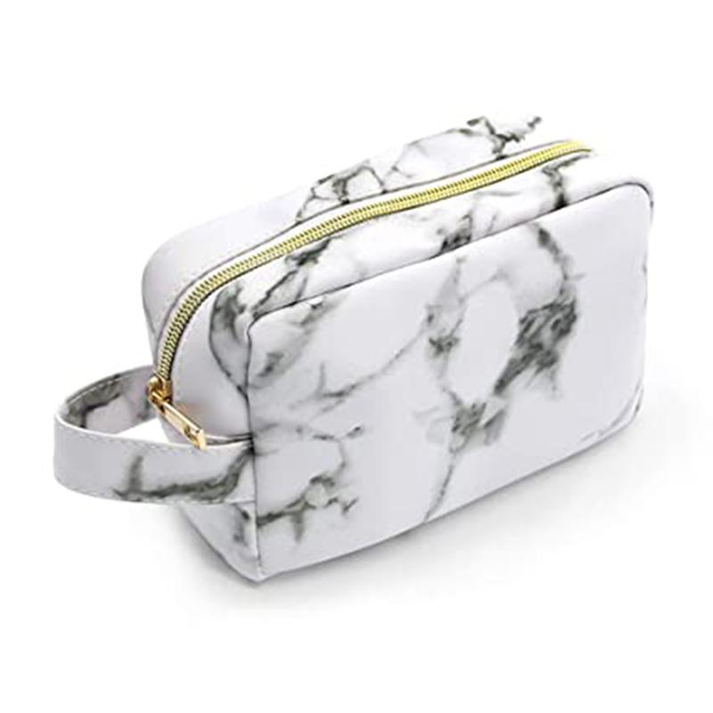 PU marble bag for makeup