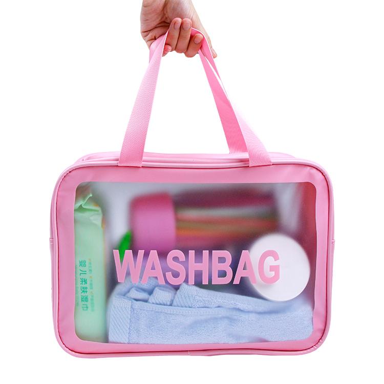 PVC cosmetic zipper bag tote makeup bag