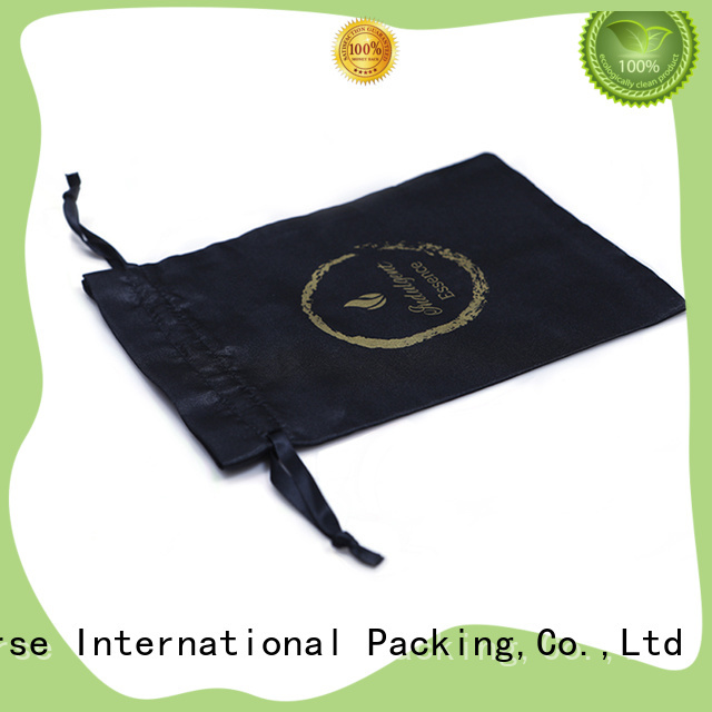 satin drawstring bags with zipper for packaging Yonghuajie