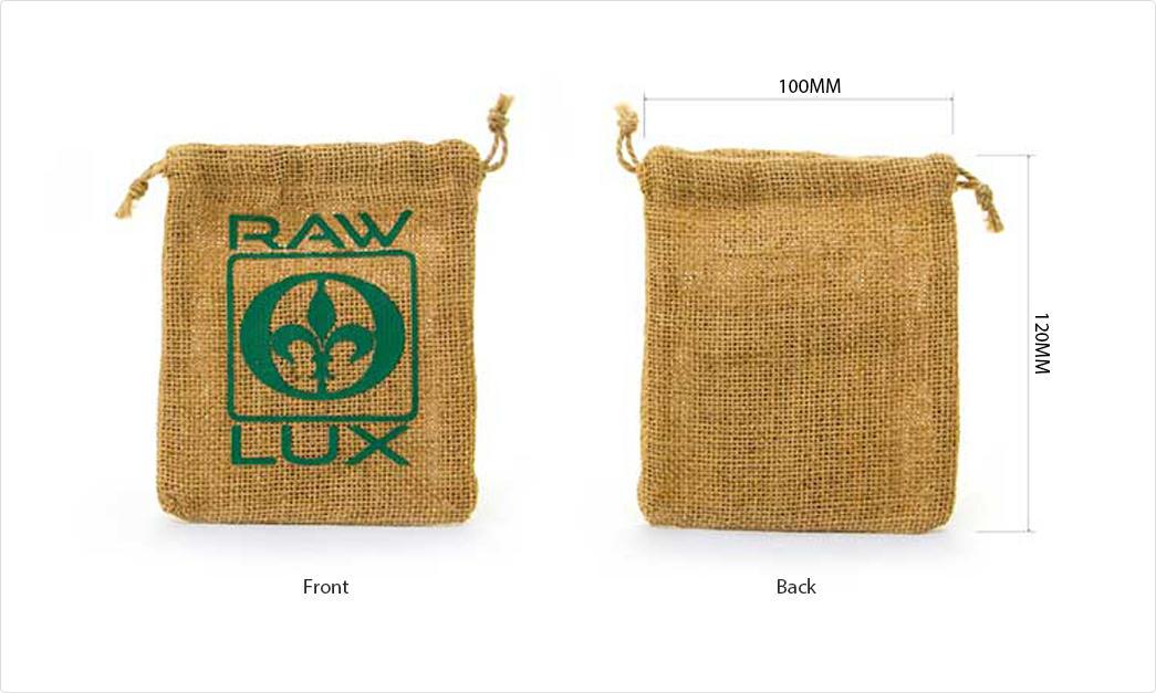 printed jute bags bamboo handle for packing Yonghuajie-1