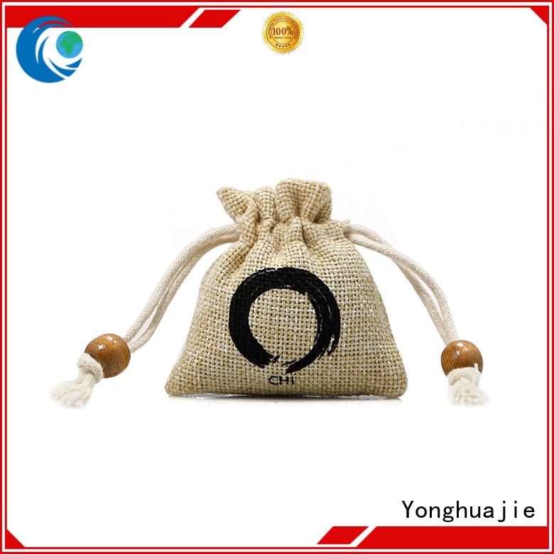 Yonghuajie custom logo personalised jute bags jute wine bag factory for packing
