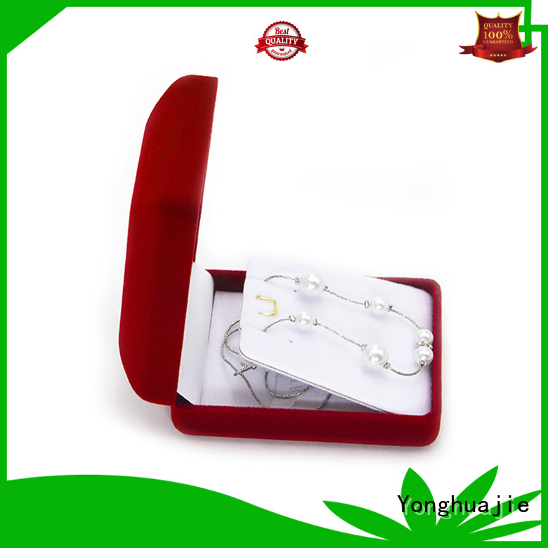 Yonghuajie high-quality velvet storage box fast delivery for necklace