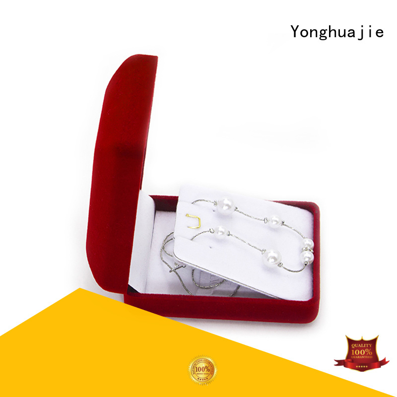 odm leather box flocking company for wedding rings