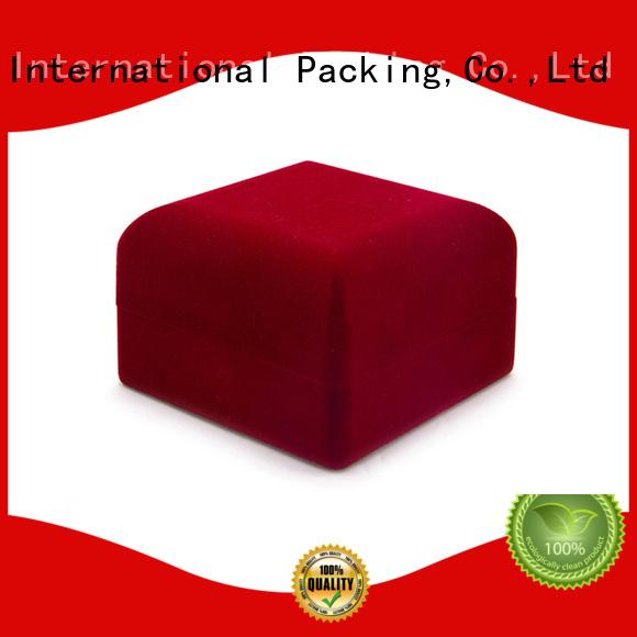 Yonghuajie red velvet box manufacturer factory for wedding rings