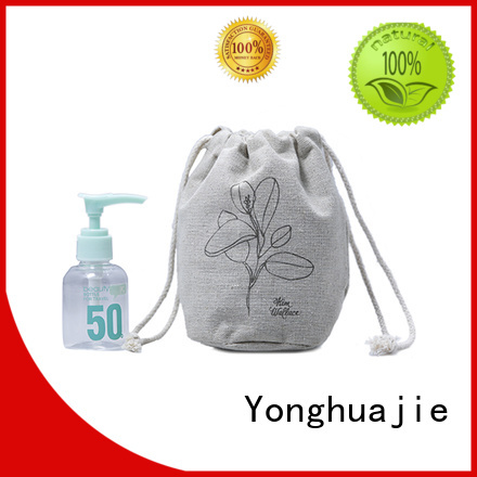 Yonghuajie natural linen pouch linen drawstring bag top-selling for students