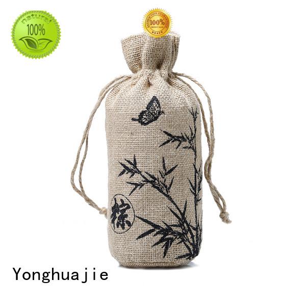 Quality Yonghuajie Brand bamboo jute sack                                                                                                                                                                                               jute shopping bag