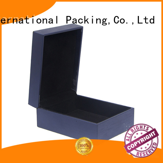 Yonghuajie black leather watch box free sample for necklace