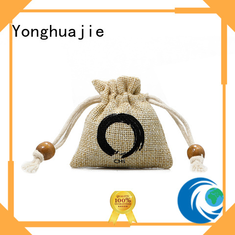 Yonghuajie bamboo handle fancy shopping bags company for storage