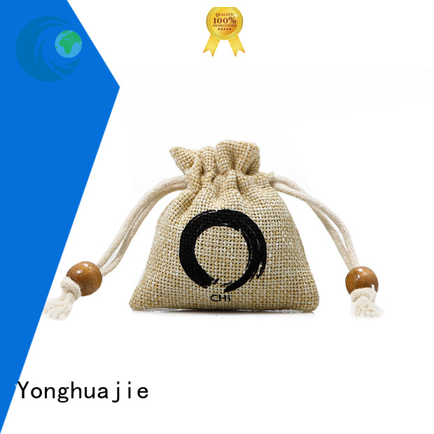 Small Jute Drawstring Pouch with Custom Logo