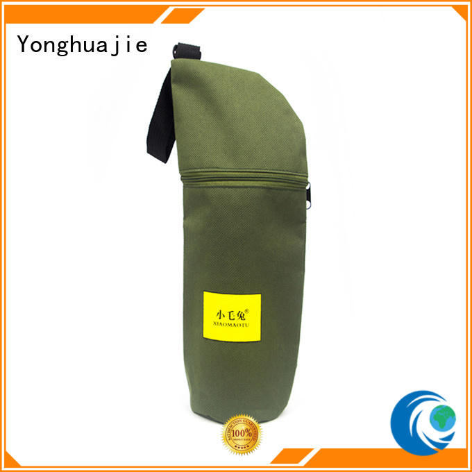 Yonghuajie silk printing polyester tote bags with handle for packaging