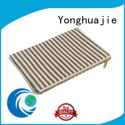 Yonghuajie drawstring canvas shoulder bag striped for packaging