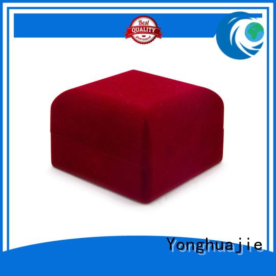 printed crushed velvet box velvet ring box free sample for necklace Yonghuajie