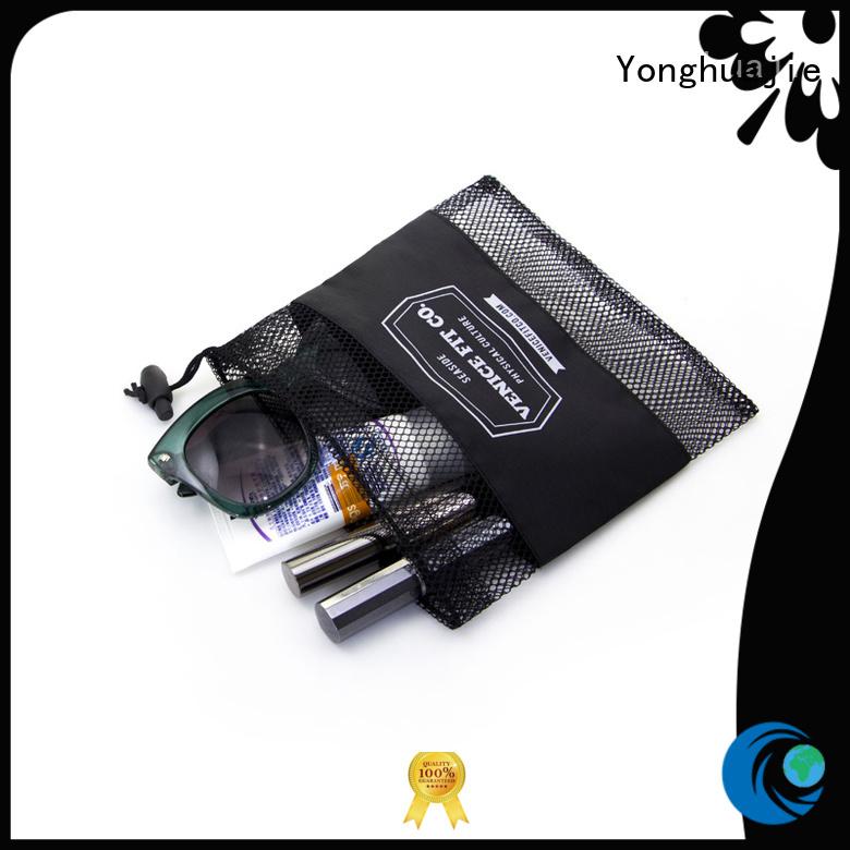 Yonghuajie golf mesh drawstring bags for gift