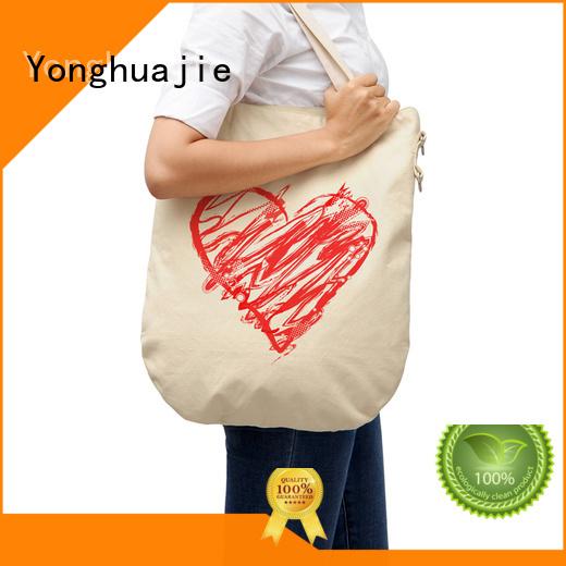 printing blank canvas tote bags printing for makeup Yonghuajie