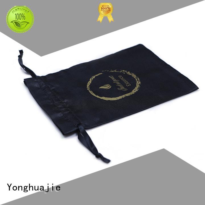 logo printed satin bags soft for packing Yonghuajie