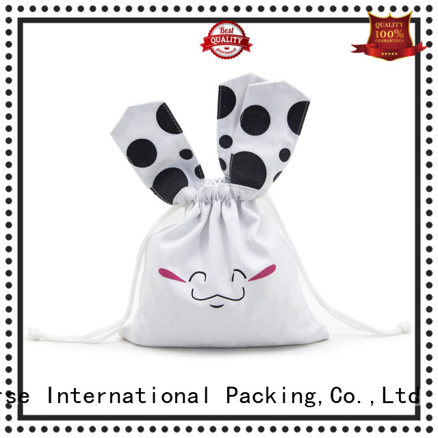 Yonghuajie white ears cotton carry bags with zipper for storage