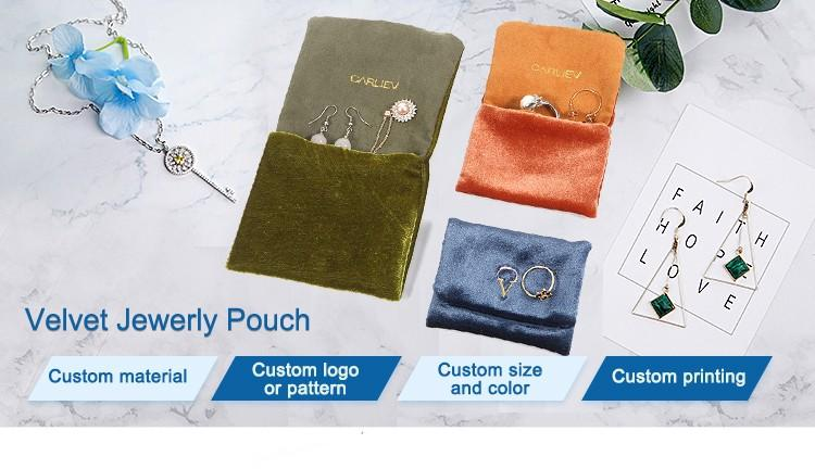 Top velvet bag printed logo manufacturers for gift-1