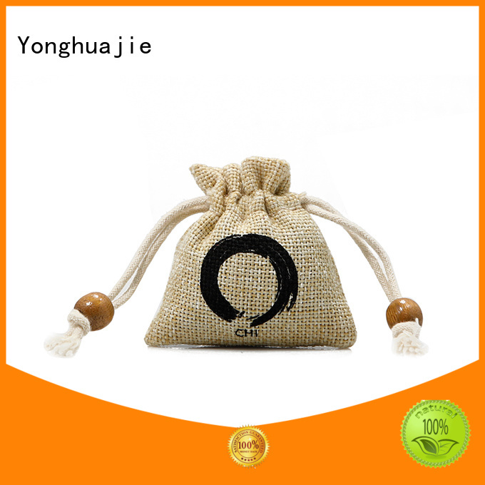 small jute bags jute storage bag drawstring for wine Yonghuajie