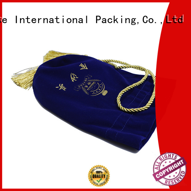 printed logo velvet makeup bag at discount for packing