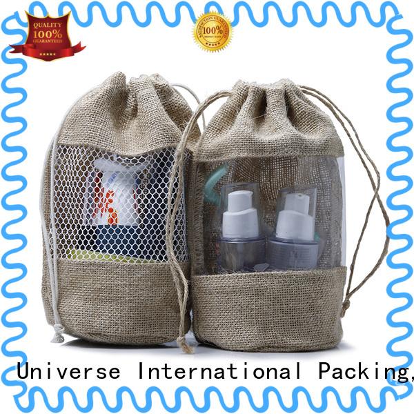 Top jute handbags bamboo handle high quality for storage