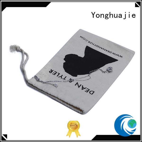 Yonghuajie white ears white shopping bag with zipper for storage