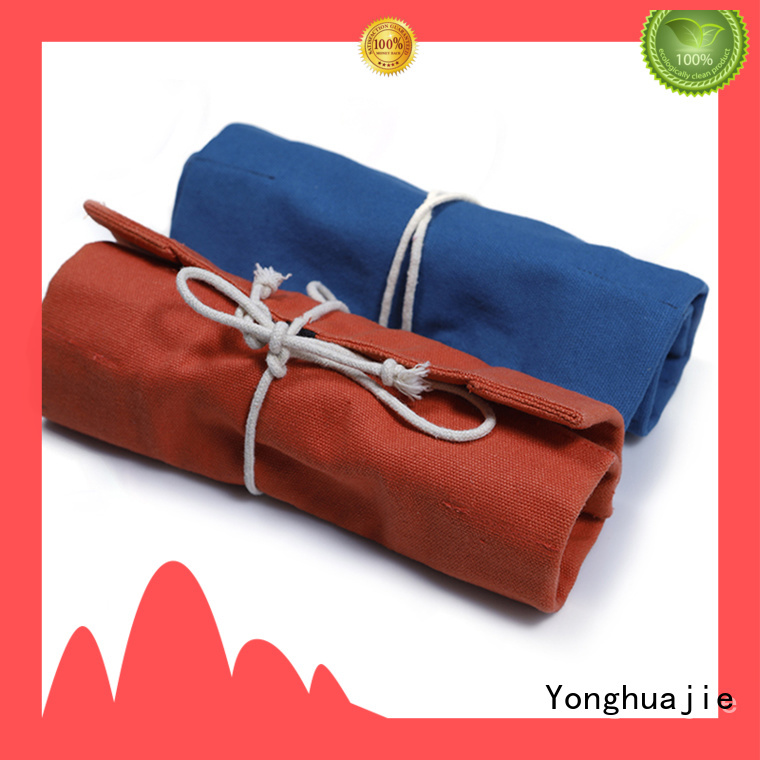 Yonghuajie printing cheap canvas bags canvas drawstring bag lamination for shopping