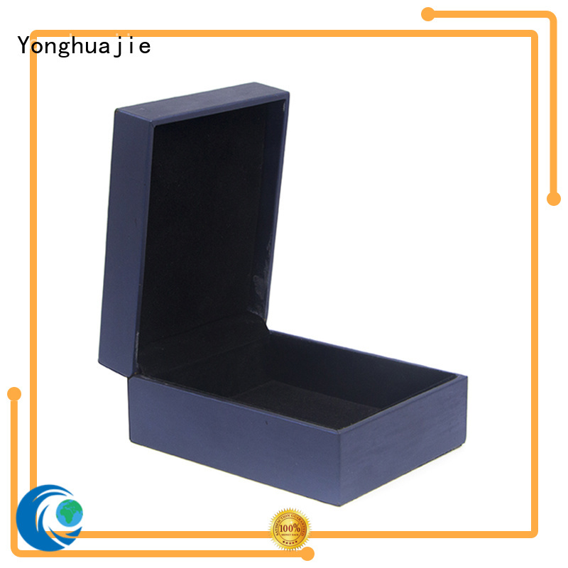 leather cufflink box high quality for gift Yonghuajie