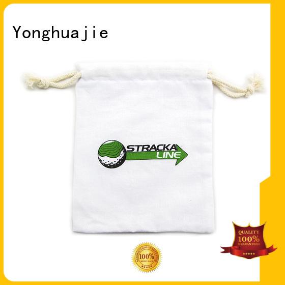 cotton carry bags Eco-friendly cotton drawstring bags Yonghuajie Brand