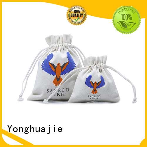 Yonghuajie order blank canvas bags canvas cosmetic bag blank for jewelry