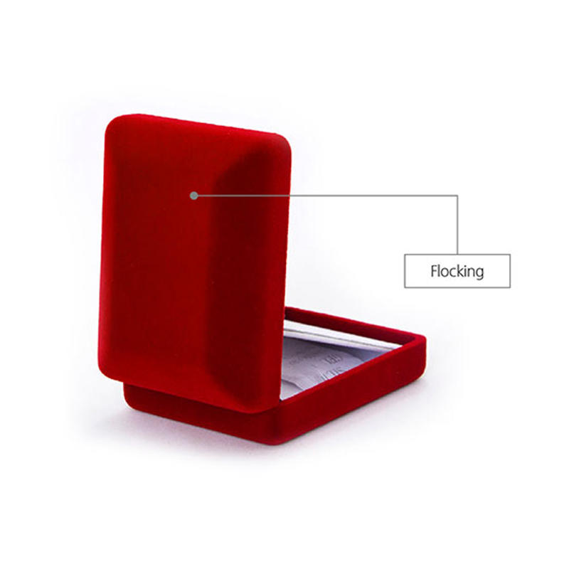 Yonghuajie red velvet necklace box free sample-3