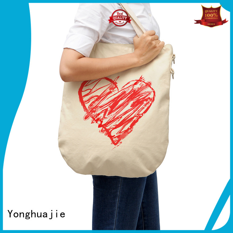 Yonghuajie drawstring small canvas bags logo printed for packaging