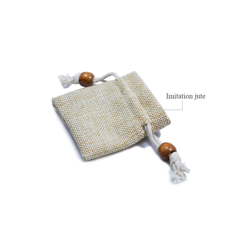 Small Jute Drawstring Pouch with Custom Logo-3