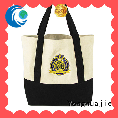 Yonghuajie lamination personalized canvas tote bags logo printed for packaging