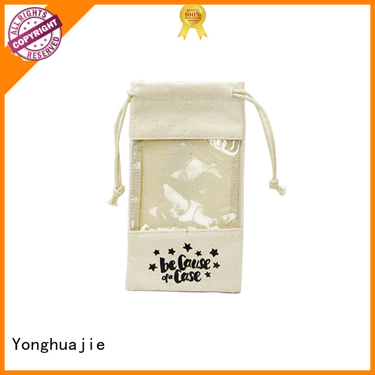 large size grey canvas tote bag canvas dust bag canvas zipper tool bag glitter for packaging Yonghuajie