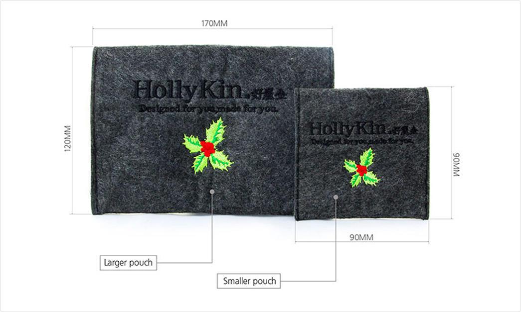 Yonghuajie felt pouch felt storage bag felt shopping bag felt jewelry bag embroidered for gift packing-1