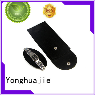 Yonghuajie purple velvet pouch cheap for watch packing